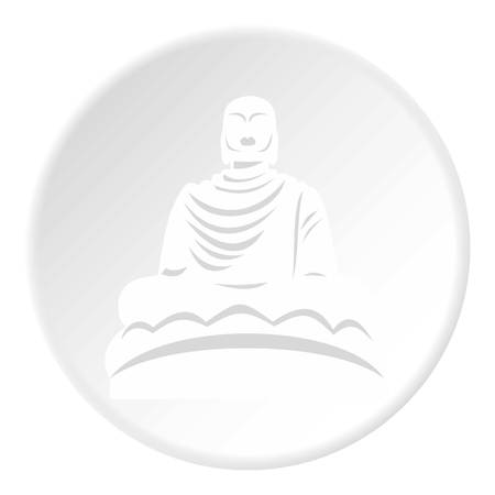 Buddha statue icon. Flat illustration of buddha statue icon for web Stock Illustration - 106780703