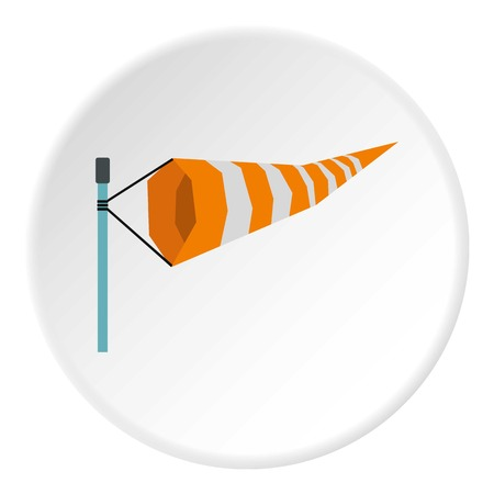 Supplies wind sock icon. Flat illustration of supplies wind sock icon for web