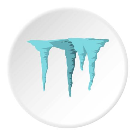 Icicles icon. Flat illustration of icicles icon for web