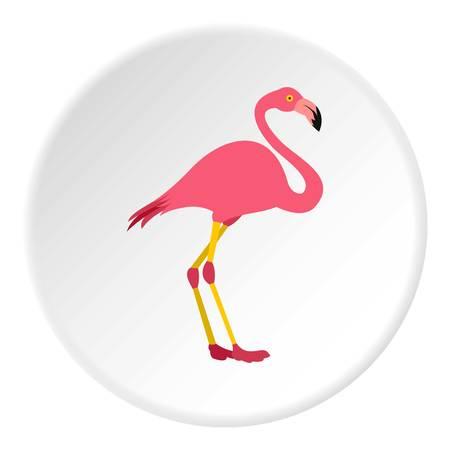 Flamingo icon. Flat illustration of flamingo icon for web Stock Photo