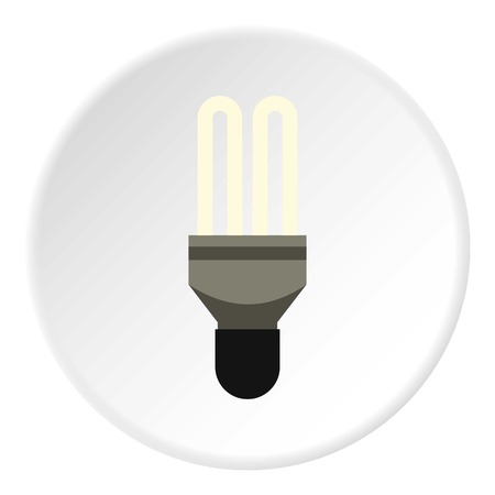 Electric lamp icon. Flat illustration of electric lamp icon for web