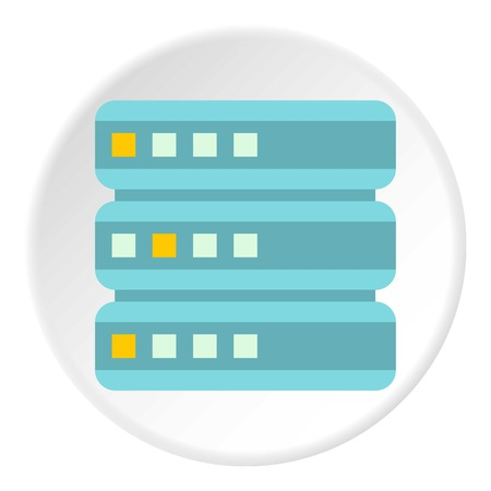 Cell for data storage icon. Flat illustration of cell for data storage icon for web