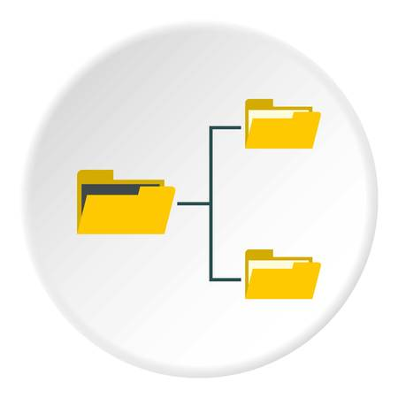 File system on computer icon. Flat illustration of file system on computer icon for web