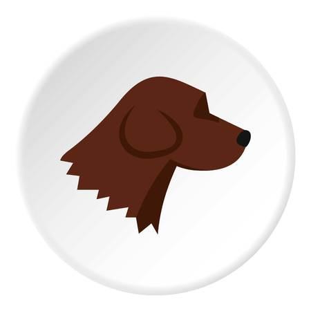 Beagle dog icon. Flat illustration of beagle dog icon for web