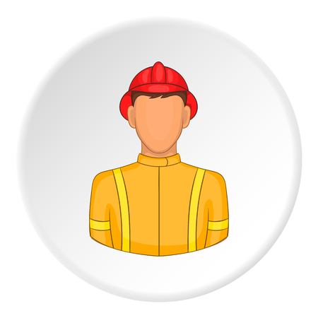 Firefighter icon. Flat illustration of firefighter icon for web