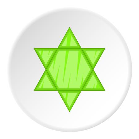Star of David icon. Flat illustration of star of David icon for web Stock Photo