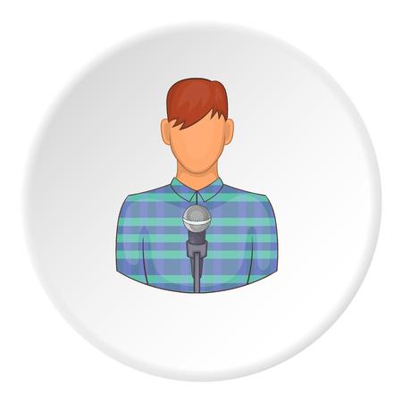 Singer icon. Flat illustration of singer icon for web