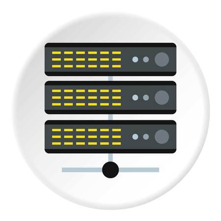 Database icon. Flat illustration of database icon for web