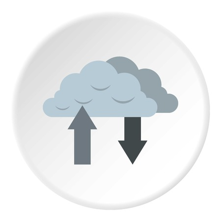 Upload and download data icon. Flat illustration of upload and download data icon for web