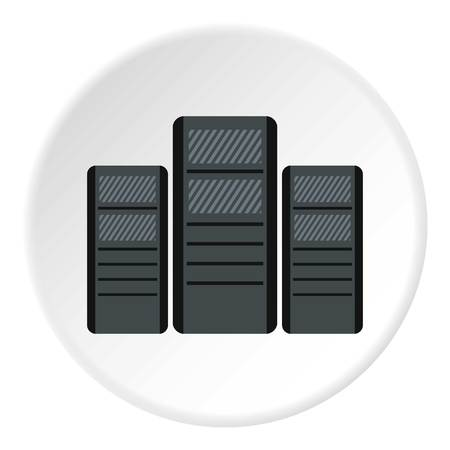 System blocks of computers icon. Flat illustration of system blocks of computers icon for web