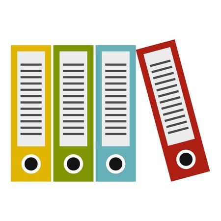 Folders icon. Flat illustration of folders icon for web