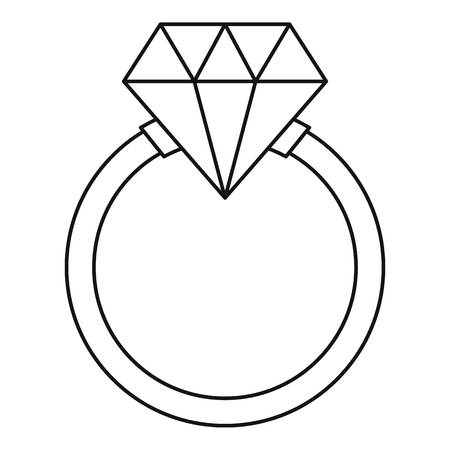 Ring LGBT icon, outline style