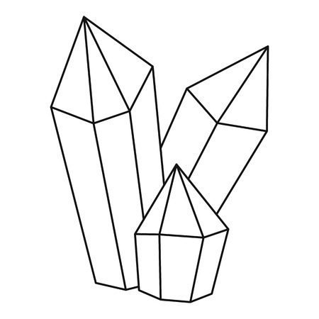 Diamonds icon, outline style