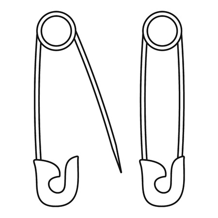 Pins icon, outline style