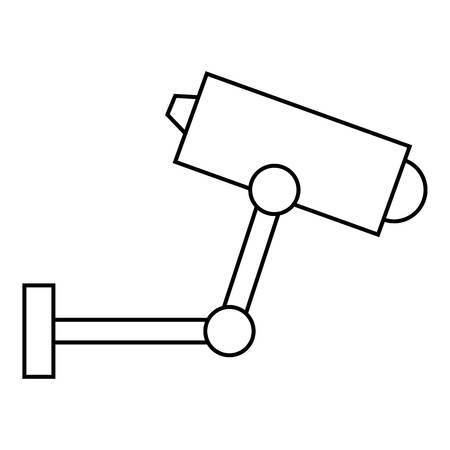 CCTV camera icon, outline style Foto de archivo - 106938864