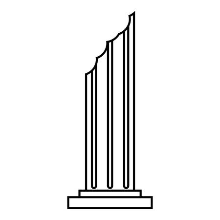 Column icon, outline style