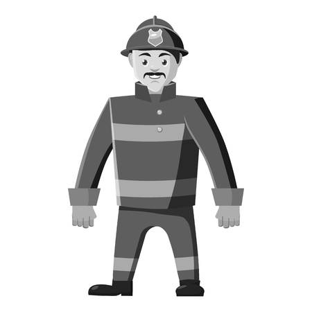 Firefighter icon, gray monochrome style