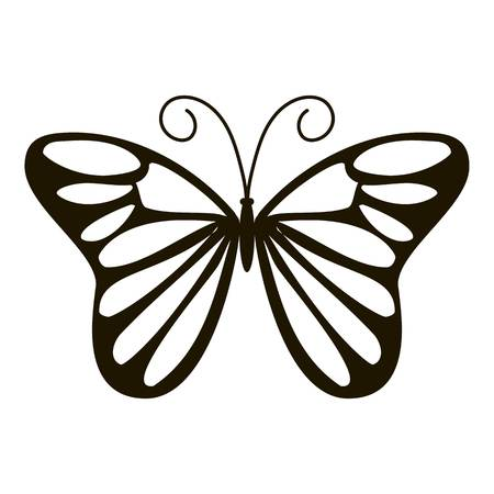 Day butterfly icon, simple style