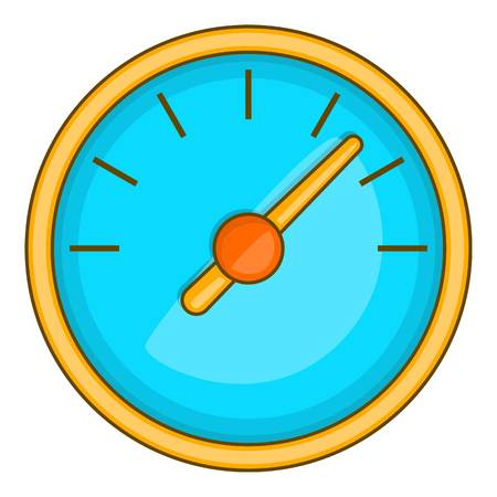 Large round speedometer icon, cartoon style