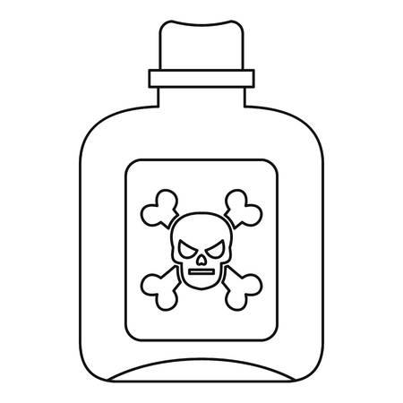 Poison icon, outline style