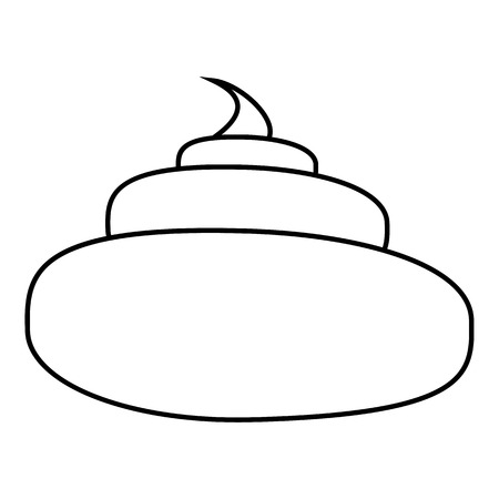 Turd icon. Outline illustration of turd icon for web design