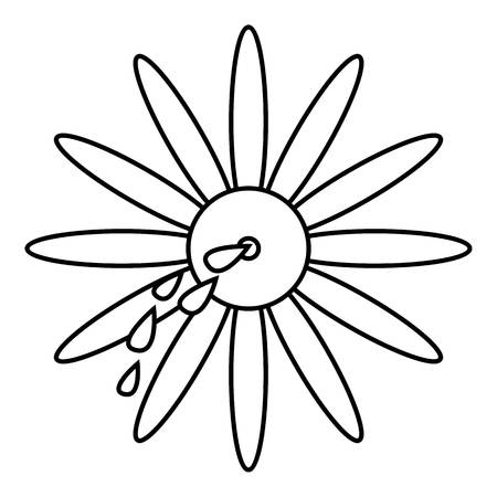 April fools day flower icon. Outline illustration of april fools day flower icon for web design