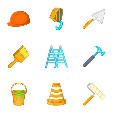 Tools icons set, cartoon style 写真素材