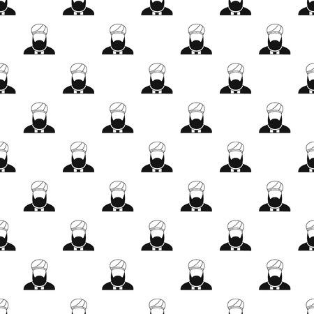 Muslim man pattern, simple style