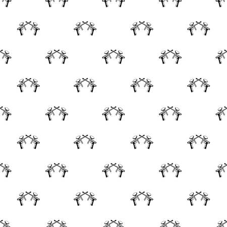 Crossed paintball guns pattern, simple style