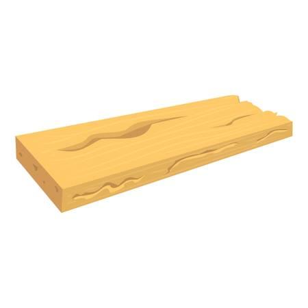 Wood board icon, cartoon style