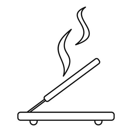 Incense sticks icon, outline style