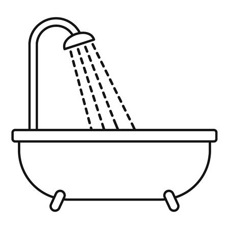 Shower icon, outline style Stock Photo