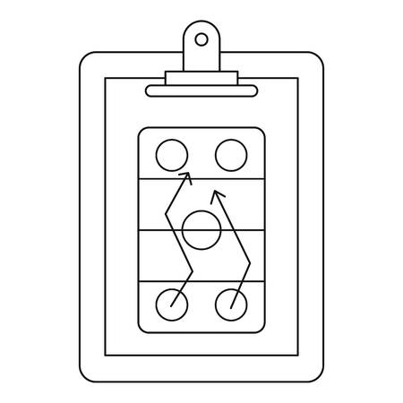 Game plan icon, outline style