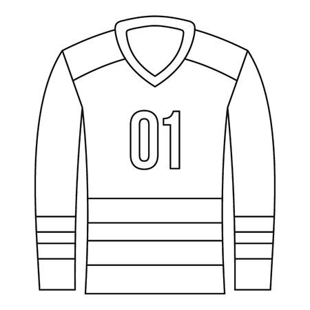 Sport uniform icon, outline style