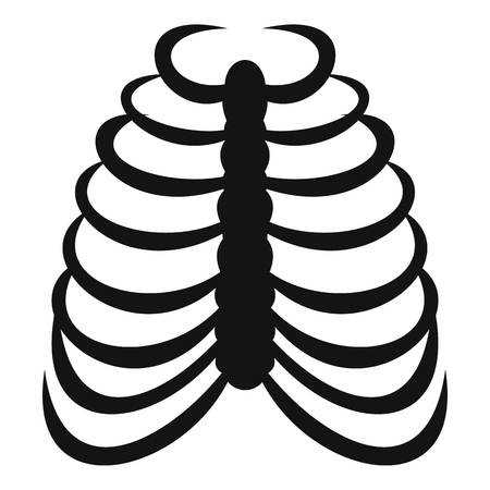 Rib cage icon, simple style 版權商用圖片