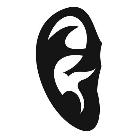 Ear icon, simple style Stock Photo