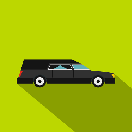 Hearse icon, flat style