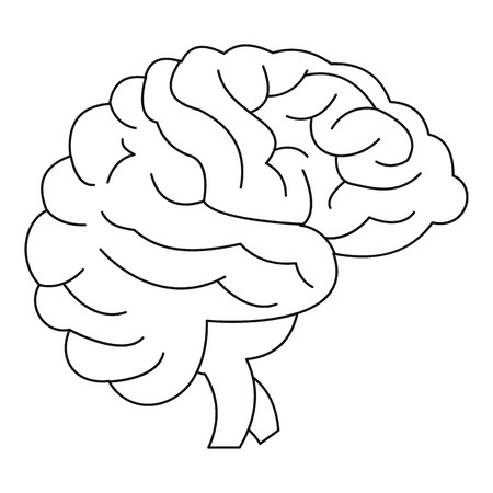Brain icon, outline style
