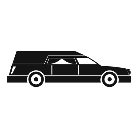 Hearse icon, simple style Stock Photo