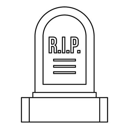Headstone icon, outline style
