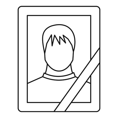 Memory portrait icon, outline style