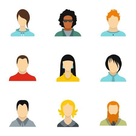 Avatar icons set, flat style Reklamní fotografie