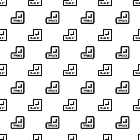 Translate button pattern, simple style Banque d'images