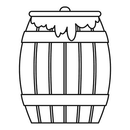 Honey keg icon, outline style