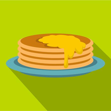 Pancakes icon, flat style