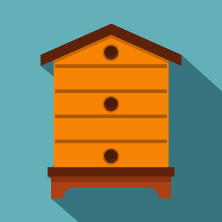 Hive icon, flat style