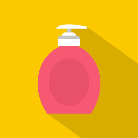 Liquid soap icon, flat style