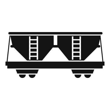 Freight railroad car icon, simple style