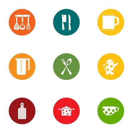 Jefe icons set. Flat set of 9 jefe vector icons for web isolated on white background