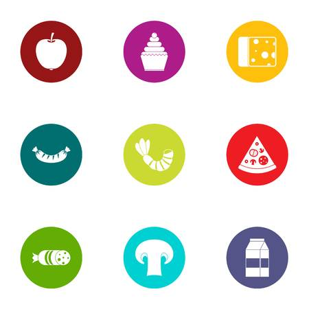 Crisp icons set. Flat set of 9 crisp vector icons for web isolated on white background